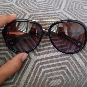 Coach Kendra L050 Dark Purple Aviator Sunglasses